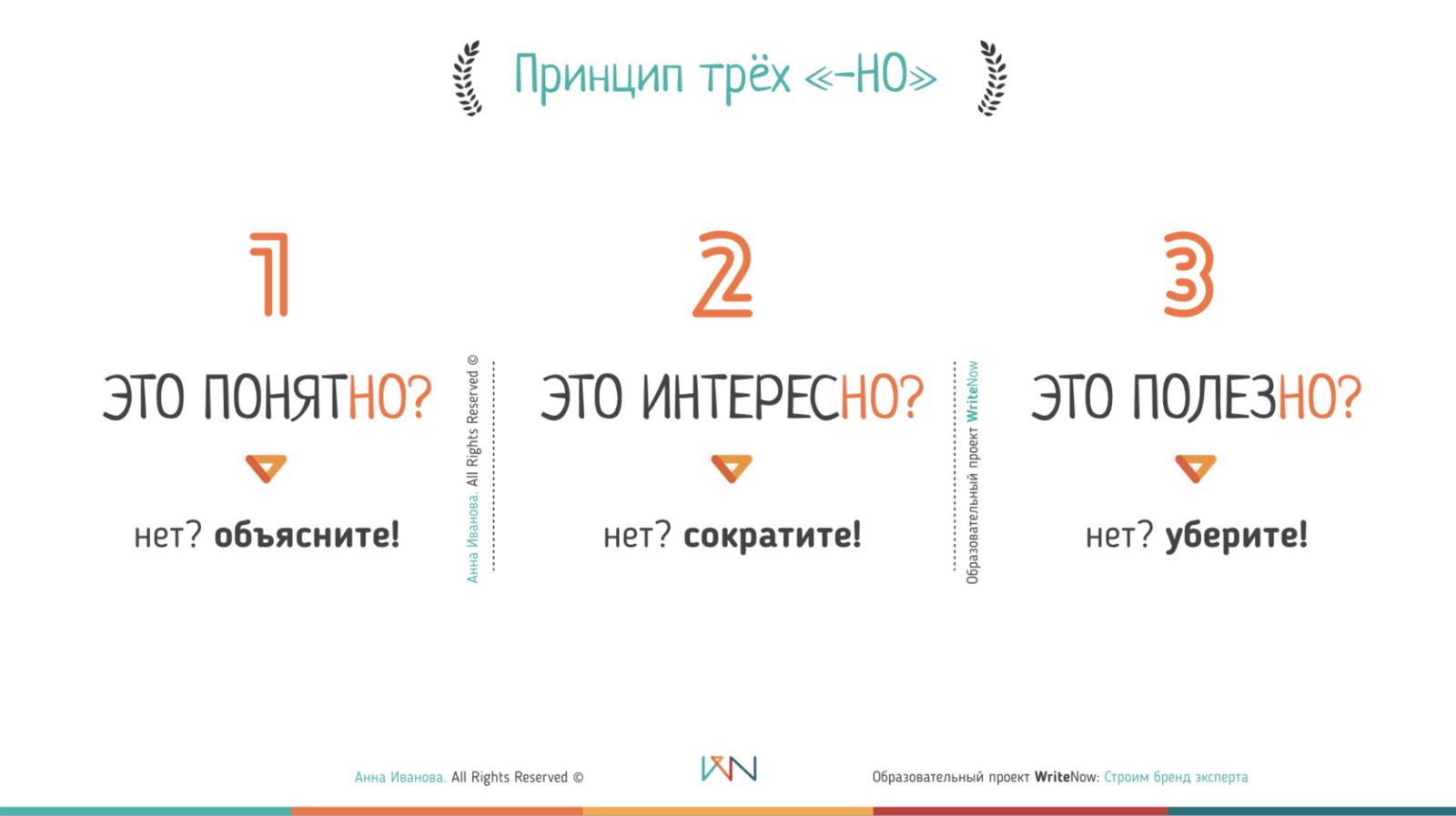 "Принцип трёх ""-но"""
