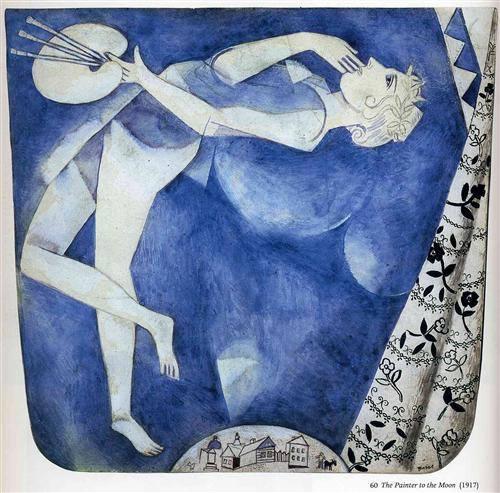 Марк Шагал «Художник: на Луну»