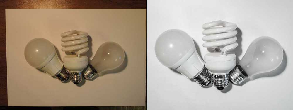 лампочки на белом фоне