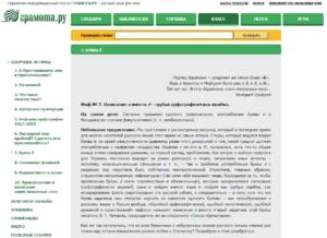 Статья о необязательности буквы ё на портале Грамота.ру